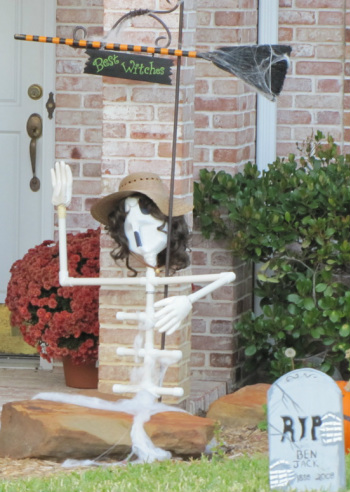halloween outside decorations skeleton made of pvc pipe
