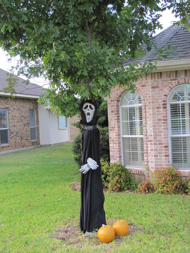 outside halloween decoration