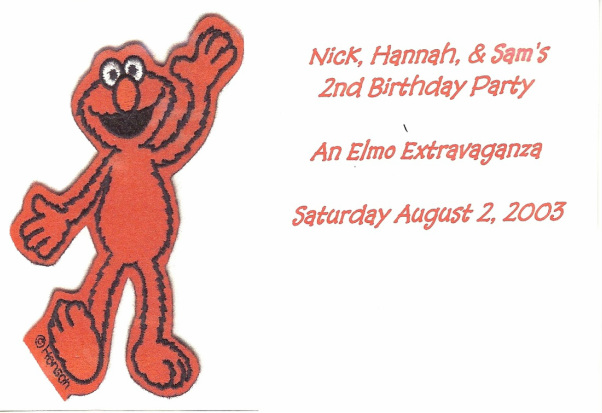 Elmo Invitation