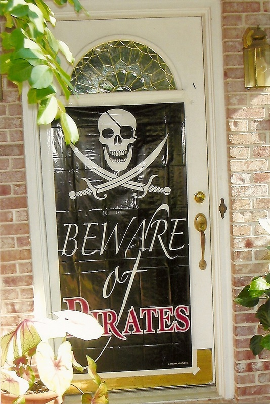 Outside Birthday Door Decoration Beware of Pirates